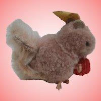 Steiff Wool Squirrel with Ball, Steiff Button