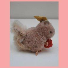 Steiff Woolen Pompom Squirrel with Ball, Steiff Button