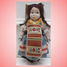 Rare Lenci  Cloth  Doll Model 159V  from 1925 Lenci Catalogue, All Original