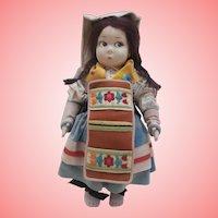 Rare Lenci  Cloth  Doll Model 159V  from 1925 Lenci Catalogue, All Original