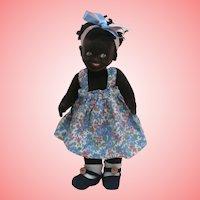 Molly, Farnell, Black Cloth Doll 1930's / 40's