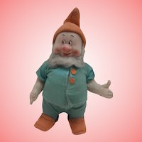 Chad Valley  Doll ,Doc, from Snow White and the Seven Dwarfs