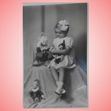Princess Margaretha Postcard with Her Dwarf Dolls,