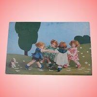 Rare Lenci Dolls and Steiff Molly Postcard, A/F