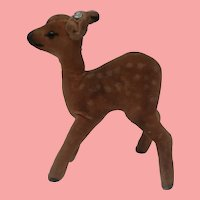 Steiff Velvet Fawn , Steiff Button 1959 to 1964