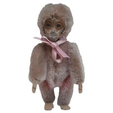 Early  Miniature Schuco Monkey, Rose Colour, A/F