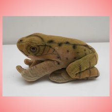 Steiff Froggy Frog , Button  1965 to 1970