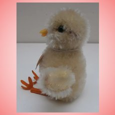 Steiff Chick , 1955 to 1958, Steiff Button, Chest Tag, A/F