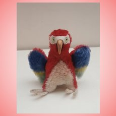Steiff Lora Parrot , Smallest Size, No Id's 1968 to 1976