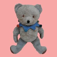 Mr. Blue, Vintage  Blue and White English Teddy Bear