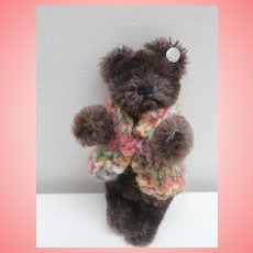 Martin, Gorgeous Vintage  Steiff Miniature Teddy Bear, Steiff Button