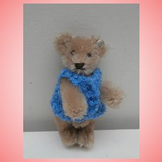 Vintage Miniature Steiff Teddy Bear, Steiff Button