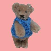 Vintage Miniature Steiff Teddy Bear, Steiff Button
