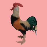 Steiff Large Rooster 1968 to 1970, Steiff Button