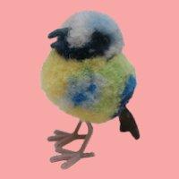 Tiny Steiff Pompom Woolen Bird 1965 to 1967, No Id's