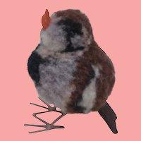 Steiff Miniature Woolen Pompom Bird, No Id's 1965 to 1978