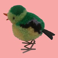 Steiff Miniature Woolen Pompom Bird  1965 to 1970, No Id's