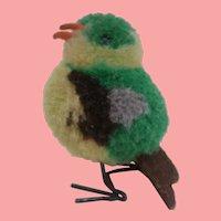 Earlier Steiff Miniature Woolen Pompom Bird No Id's 1949 to 1956