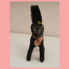 Steiff Tom Cat , Lucky Black Cat, 1959 to 1964, Steiff Button and Tag