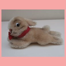 Smallest Size Steiff Lying Rabbit, Steiff Button 1959 to 1964