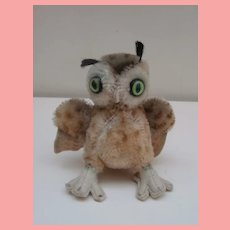 Steiff Wittie Owl, No Id's,, 1959 to 1967