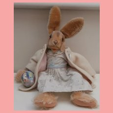 Lovely Steiff Lulac Bunny Rabbit, Steiff Button