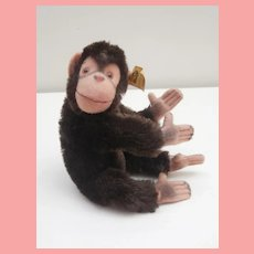 Steiff Jocko Flexible Monkey 1978 to 1980, Gold Steiff Button.