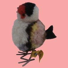 Steiff Woolen Pompom Bird, Steiff Button 1967 to 1969