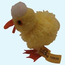 Steiff Wool Pompom Duck 1968 to 1977, Steiff Button