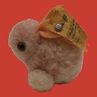 Steiff Wool Pompom Rabbit 1968 to 1984, Steiff Button