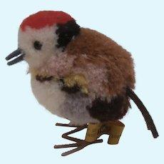 Steiff Wool Pompom Bird , Steiff Button. 1959 to 1967