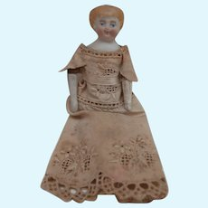 Charming Vintage Bisque Dolls House Doll. A/F