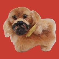 Smallest Steiff Peky Pekingese Dog 1959 to 1964, Steiff Button