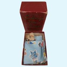 Arnold, Miniature Schuco Teddy Bear, Vintage Cadbury Box, Noddy , Big Ears Golly Sheet