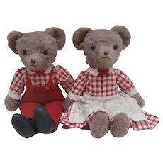 Maude and Maurice Gorgeous Vintage Pair of Teddy Bears
