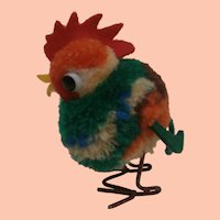 Steiff Wool Pompom Rooster 1959 to 1964, No Id's