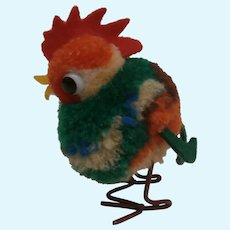 Steiff Woolen Pom Pom Rooster 1959 to 1964, No Id's
