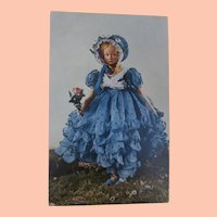 Gorgeous Lenci Lady Boudoir Doll Rare Postcard