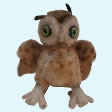Steiff Wittie Owl , No Id's !959 to 1967