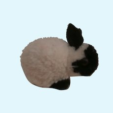 Steiff Woolen Pompom Rabbit, No Id's, 1959 to 1964