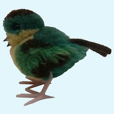 Steiff Wool Pompom Bird, No Id's 1968 to 1978
