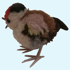 Steiff Woolen Pompom Bird, No Id's 1968 to 1983