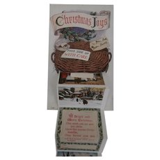 Christmas Novelty Postcards Pullout Christmas Scenes