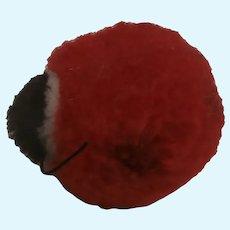 Steiff Wool Pompom Ladybird, No Id's 1959 to 1964