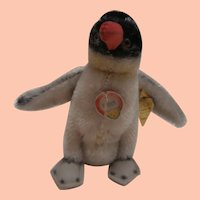 Steiff Peggy  Penguin, 1959 to 1964. Steiff Chest Tag and Button
