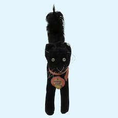 Steiff Black Tom Cat, Lucky Black Cat, Steiff Id's. 1959 to 1964