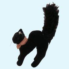 Steiff Tom Cat , Lucky Black Cat, 1959 to 1964, Steiff Button.