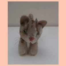 Gorgeous Smallest Size Steiff Tapsy Cat 1965 to 1966, No Id's