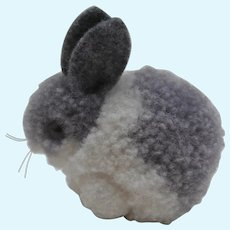 Steiff Wool Pompom Rabbit, No Id's, 1959 to 1964