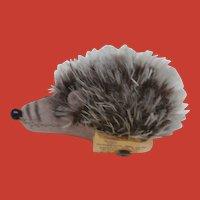 Sweet Miniature Steiff Joggi Hedgehog . Steiff Button 1968 to 1975